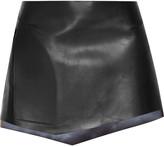 Esteban Cortazar Leather mini skirt