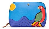 Tory Burch Kerrington Parrot Cosmetic Case