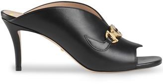 Gucci GG high heel mules