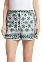 Sandro Happening Ivy Mosaic-Print Shorts