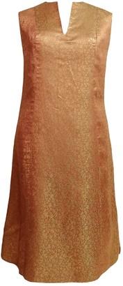 Non Signã© / Unsigned Orange Synthetic Dresses