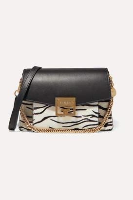 Givenchy Gv3 Small Zebra-print Calf-hair And Leather Shoulder Bag - Zebra print