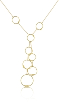 Torrini Milly - 18K Yellow Gold Circles Drop Necklace