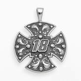 "Insignia Collection NASCAR Kyle Busch Sterling Silver ""18"" Maltese Cross Pendant"