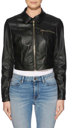 GUESS Long Sleeve Cella Cropped Jacket