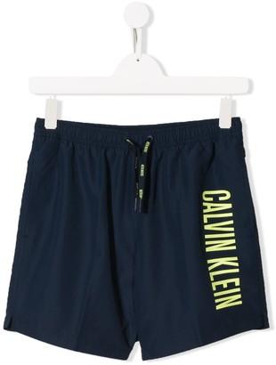 Calvin Klein Kids Printed Logo Swimshorts