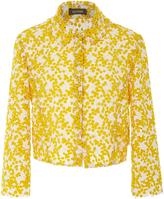 Zac Posen Mimosa Lace Fitted Jacket