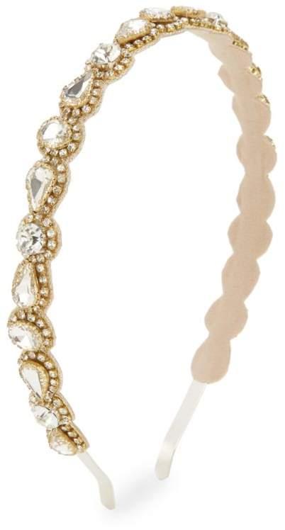 Deepa Gurnani Coraline Crystal Goldtone Metal Headband Shopstyle