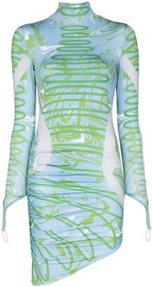 MAISIE WILEN Orbit City asymmetric mini dress