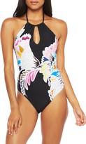 Trina Turk Seychelles Floral Keyhole One-Piece Swimsuit