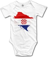 YEARla Unisex Flag-map Of Independent State Of Croatia Baby Rompers Baby Onesie Short Slev