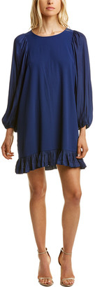 Halston Blouson Shift Dress