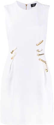 Versace Sleeveless Pinned Mini Dress