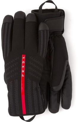 Prada Linea Rossa padded gloves