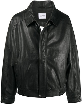 Lourdes Oversized Cut-Out Leather Jacket