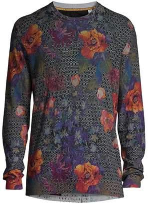 Robert Graham Hawkeye Floral Linen & Cotton Sweater