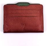 Atelier Hiva Double Card Holder Metallic Burgundy & Metallic Green