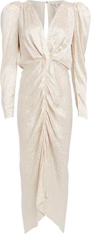 Ronny Kobo Astrid Jacquard Ruched Dress