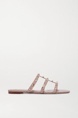 Valentino Garavani Rockstud Leather Sandals - Blush