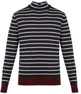 Marni Roll-neck Striped Wool Sweater