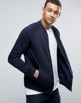 French Connection Jersey Baseball Bomber Jacket