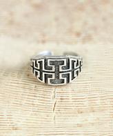 Nautilus Silvertone Geometric Ring