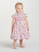Oscar de la Renta Baby Carnation Bud Cotton Smock Dress