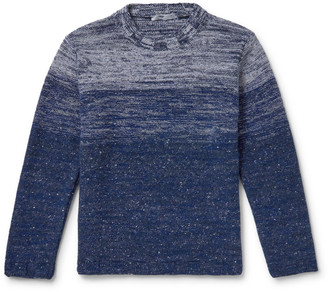 Inis Meáin Degrade Merino Wool And Cashmere-Blend Mock-Neck Sweater