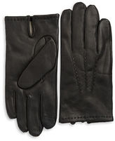 Black Brown 1826 Lined Leather Tech Gloves