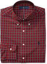 Polo Ralph Lauren Men's Classic Fit Stretch Red Tartan Dress Shirt