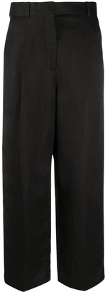 Sandro Paris Straight Fit Cropped Trousers