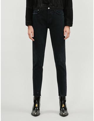 AGOLDE Jamie raw-hem straight high-rise jeans