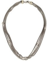 David Yurman Pavé Diamond Bead Station Multistrand Necklace