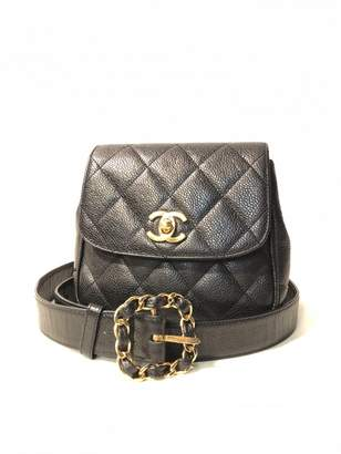 Chanel Black Leather Belt Bags