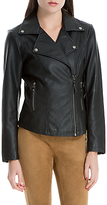Max Studio Leatherette Jacket, Black