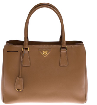 Prada Caramel Saffiano Lux Leather Galleria Tote