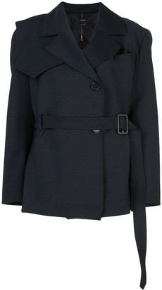 Ellery Permanent Residency short trench coat