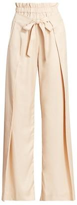 Cult Gaia Pajah Tie-Waist Wool-Blend Wide-Leg Pants