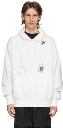 we11done White WD Logo Hoodie