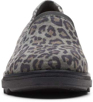 Clarks Sharon Dolly Slip On Wedge Shoes - Leopard Print