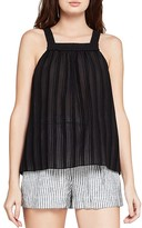 BCBGeneration Shirred Square-Neck Tank