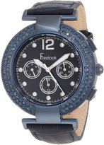 Freelook Women's HA1335B-6 Chronograph Dial With Stones And Swarovski Bezel Watch