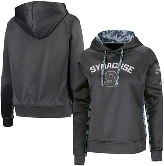 Colosseum Women's Charcoal/Camo Syracuse Orange OHT Military Appreciation Digital Pullover Hoodie