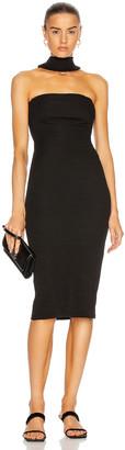 CHRISTOPHER ESBER Rever T-Bar Halter Dress in Black | FWRD