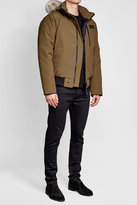 Canada Goose Down-Filled Bomber Jacket with Fur Trimmed Hood
