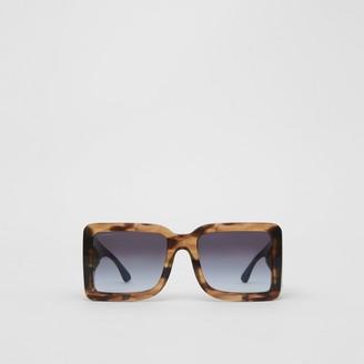 Burberry B Motif Square Frame Sunglasses