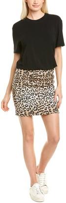 Nicole Miller Leopard Combo Sheath Dress