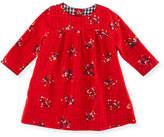 Petit Bateau Long-Sleeve Floral-Print Dress, Size 3-36 Months