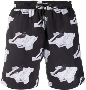 Misbhv Silhouette Print Swim Shorts