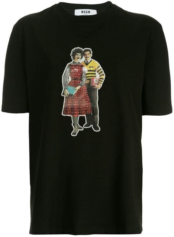 MSGM graphic print T-shirt
